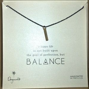 Dogeared Balance Long Bar Necklace
